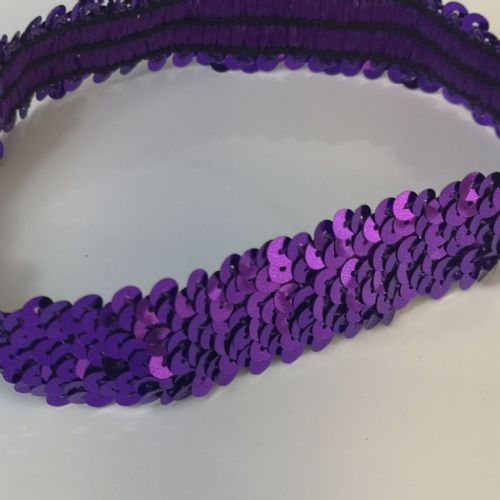 Purple | Stretch Sequin Hairband